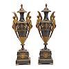 Pair French Empire Bronze Urns