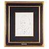 Pablo Picasso. Ambroise Vollard III, etching