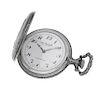 Reloj de bolsillo La Rochelle. Movimiento manual. Caja en acero. Carátula color blanco.