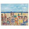 "Adel Sansur. ""At the Beach,"" Oil on Canvas"