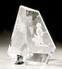 """Steuben glass """"Boy and Butterfly"""" crystal sculpture, designed by George Thompson and engraving designed by Tom Vincent, signed on bo..."""