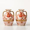 Pair of Wedgwood Queen's Ware Portland-shaped Vases