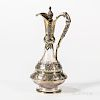 Victorian Sterling Silver-mounted Glass Wine Ewer