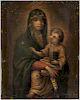 Italian School, 17th Century Style  Madonna and Child