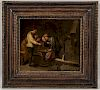 Manner of David Teniers the Younger (Flemish 1610-1690)  Men at a Gaming Table in a Tavern Interior