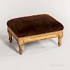 Louis XVI Diminutive Gilded and Upholstered Footstool