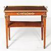 Louis XVI-style Ormolu-mounted Burl Amboyna-veneered Side Table