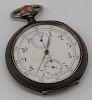 SILVER. Omega .900 Silver Chronometer Pocket