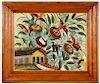 """Hector Hyppolite (Haitian, 1894-1948) """"Une Maison de fleur"""", c. 1947"""