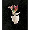 JOYCE J. SCOTT Necklace or brooch