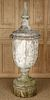 LARGE 19TH CENTURY TURNED WOOD URN FORM FINIAL