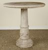 CARVED STONE GARDEN TABLE OCTAGONAL BASE