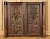 SIX FRENCH WALNUT CARVED PANELS CIRCA 1900
