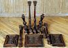 MISCELLANEOUS LOT OF FRENCH WALNUT CARVINGS C1900