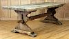 FRENCH RUSTIC OAK PARSONS TABLE CIRCA 1900
