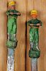 PAIR FIGURAL CAST IRON HITCHING POSTS 1900
