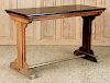 FRENCH OAK PUB TALBE PAINTED BLACK TOP 1930