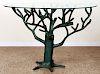 GREEN RESIN SCULPTURE TREE FRENCH ARTIST DESIGNED