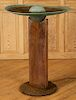 TOM TORRENS COPPER IRON BIRD BATH WITH FOUNTAIN