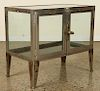 CHROMED TABLE TOP VITRINE WITH GLASS PANELS 1920