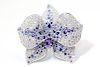 Cartier White Gold Orchard Flower Diamond Sapphire