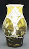Loetz Cytisus Silver Overlay Vase.