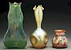 Three Loetz Art Glass Vases.