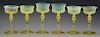 Lot of 6: Tiffany Reactive Glass Stems.
