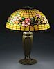 Tiffany Dogwood Band Table Lamp.
