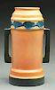 "Roseville Pottery Futura ""Beer Mug"" Vase With Handles."