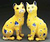 Galle Faience Cat & Dog.