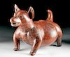 HUGE Colima Redware Pottery Dog