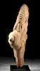 Huge Ancient African Stone Figure of Pregnant Female