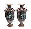 Pair of Sevres Pate-Sur-Pate Vases