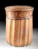 Maya Ceramic Cylinder Vessel w/ Glyph Band
