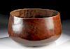 Large/Early 20th C. Hawaiian Kamani Wood Calabash Bowl