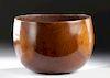 Rare Mid-19th C. Hawaiian Calabash Wood Bowl