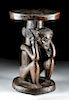 Important 19th C. Chokwe Wood Stool, ex-Sotheby's