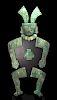 Monumental Mochica Silver Copper Guardian Figure