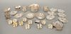 Sterling silver lot to include nut dishes, salts, etc. 28.6 troy ounces
