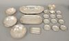 Sterling silver lot to include set of butter plates, etc. 42.6 troy ounces
