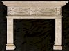 CARVED CARERRA MARBLE FIREPLACE MANTLE C.1900