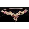 18k Gold Diamond and Ruby Bracelet