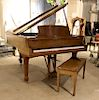 STEINWAY MODEL L GRAND PIANO WALNUT CASE C.1990