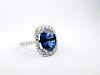 Henri Daussi 6.61ct Sapphire & Diamond Ring