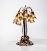 "Tiffany Studios Ten-light Bronze ""Water Lily"" Table Lamp"