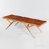 Ico and Luisa Parisi for Singer & Sons Walnut and Brass Coffee Table