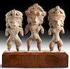 Lot of 3 Tlatilco Bi-Chrome Pretty Lady Figurines