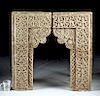 Medieval Islamic Carved Stucco Window Lintels