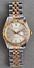 Rolex 18K Gold SS Oyster Perpetual Datejust Watch